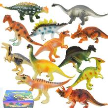 12Pcs Simulate Dinosaur Modeling Puzzle Toys Set for Kids with Box