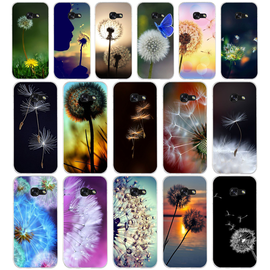 105WE dandelion Soft Silicone Tpu Cover phone <font><b>Case</b></font> for <font><b>Samsung</b></font> A3 A5 2016 A3 A5 2017 A7 A8 2018 <font><b>A50</b></font> image