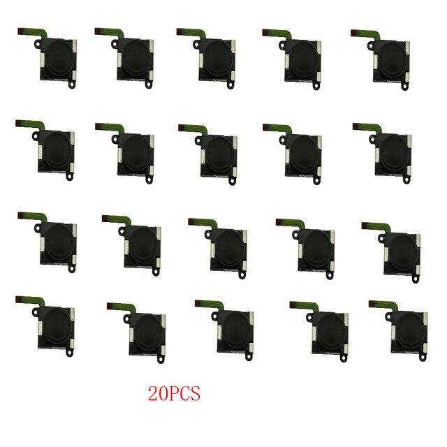 20 قطعة عصا تحكم تناظرية ثلاثية الأبعاد العصي قطعة بديلة لمستشعر ل نينتندو سويتش NS ل Joy Con تحكم أجزاء إصلاح أسود