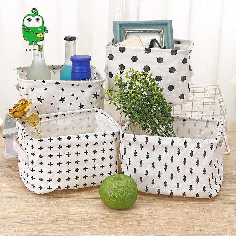 Simple Desktop Storage Box Office Storage Organizer Sundries Storage Box Cosmetics Basket Makeup Organizer Toys Container Boxes