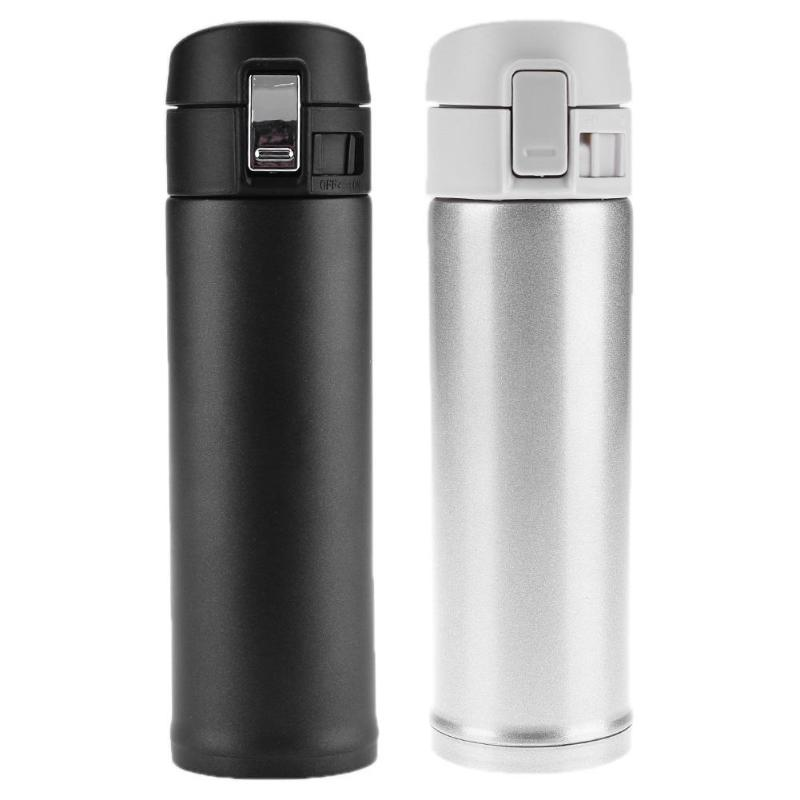 BLACK INSULATED MUG for travel vacuum thermal flask