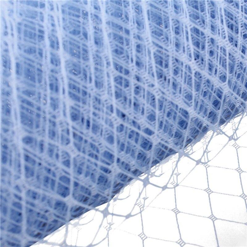 Light Blue Or Multiple Colors 25cm Birdcage Veiling Millinery Hat Veil DIY Hair Accessories Fascinator Veils10yard/lot