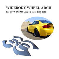 10PCS/set Widebody Wheel Arch Cover Fender Flares Trim For BMW 3 Series E92 M3 2008 2012 PU Unpainted Grey