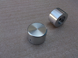 Perilla de aleación de aluminio, botón de potenciómetro de volumen, estéreo HIFI, perilla amplificadora, potenciómetro, 35x22mm, envío gratis