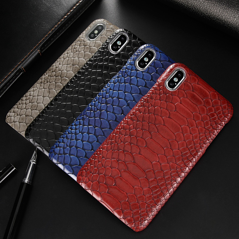 Luxury Snake Skin Case For iphone 6s 6 s 7 8 plus XS iphone 8 7plus 6splus Hard Back Cover For iphone XS MAX XR X 10 Phone Cases