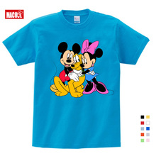 Kids Cartoon Mickey Childrens T Shirts Mouse Short Sleeve T-shirt Donald Baby/Boy/Girl t shirt summer O-Neck tee 2-15Y