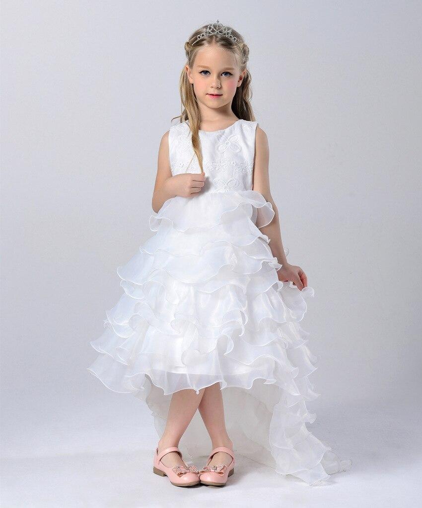 Meerjungfrau Blumen Mädchen Kleider Für Hochzeit Kleider Weiß ...