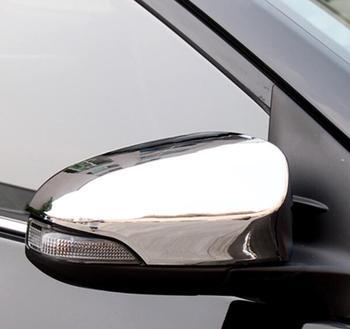 Absクローム車のアクセサリーバックミラー装飾キャップカバートリム用トヨタカローラ2014 2015