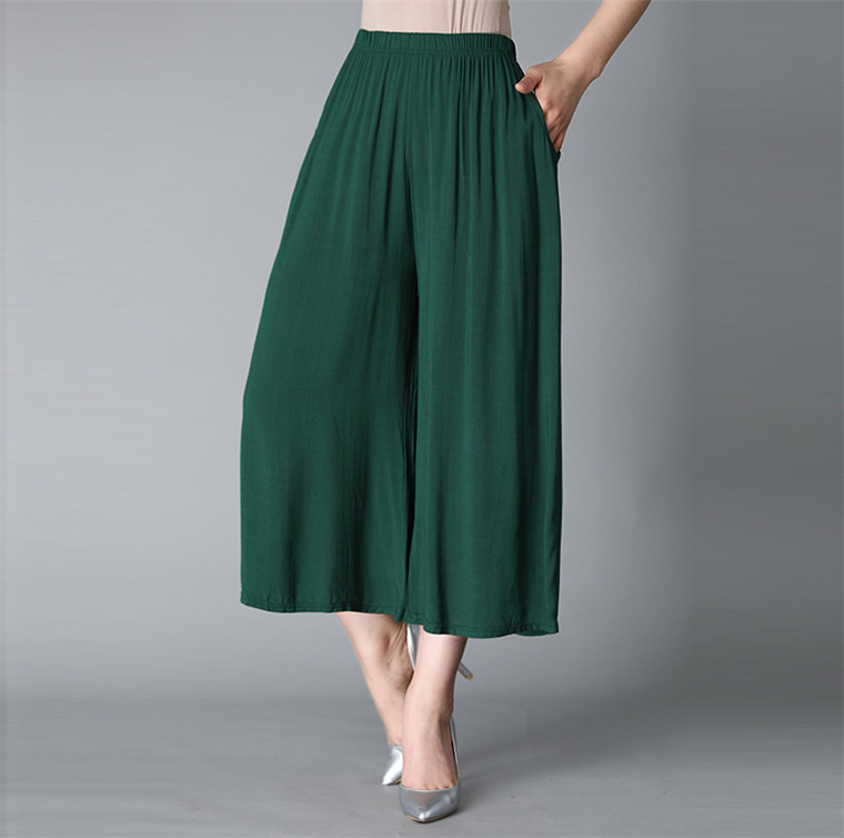 Top Quality Women Summer Casual Thin Pants Cotton Linen Trousers Plus Size Elastic Waist Wide Leg Pant Candy Color 5XL 6XL 7XL