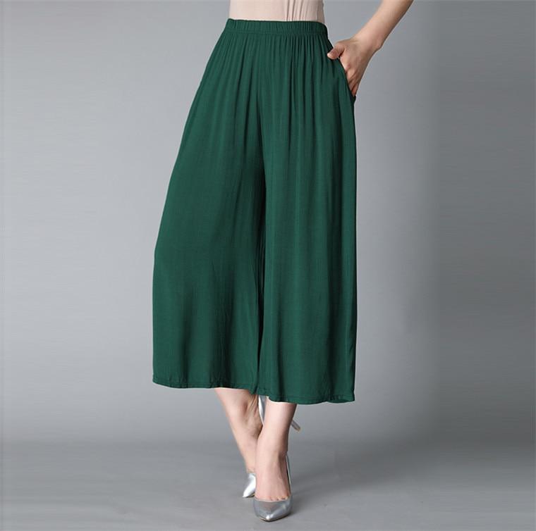 Top Quality Women Summer Casual Thin Pants Cotton Linen Trousers Plus Size Elastic Waist Wide Leg Pant Candy Color 5XL 6XL 7XL