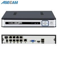 Новый 4CH 8CH 48 В PoE 1080 P H.265 NVR все в одном сети видео Регистраторы для PoE Onvif ip камеры P2P xmeye CCTV Системы