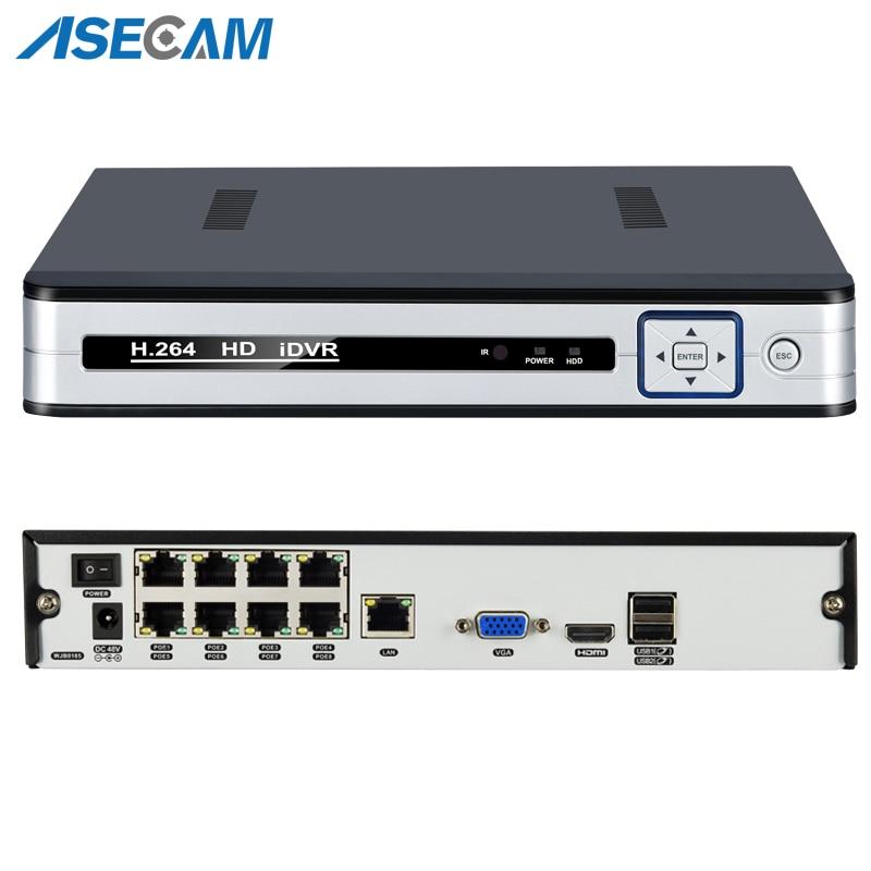 Новый 4CH 8CH 48 В PoE 1080 P H.265 NVR все-в-одном сети видео Регистраторы для PoE Onvif ip-камеры P2P xmeye CCTV Системы