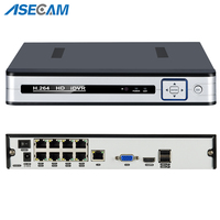 New 4CH 8CH 48V PoE 1080P H.265 NVR All in one Network Video Recorder for PoE Onvif IP Cameras P2P XMeye CCTV System