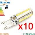 ZK30 10 pçs/lote Mini G9 LED Milho Lâmpada AC 220 V 3014 15 W 10 W 12 W 2835 LED Lâmpada Da Vela Do Natal Luz de Cristal de Silicone