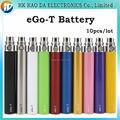 10 unids/lote batería cigarrillo, Ego-t batería 650 mah 900 mah 1100 mah para cigarrillos electrónicos, ego recarga de la batería para e cig