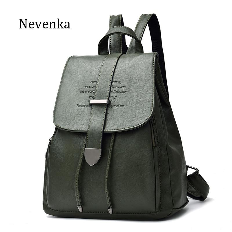 nevenka mulheres mochila de couro Exterior : Nenhum