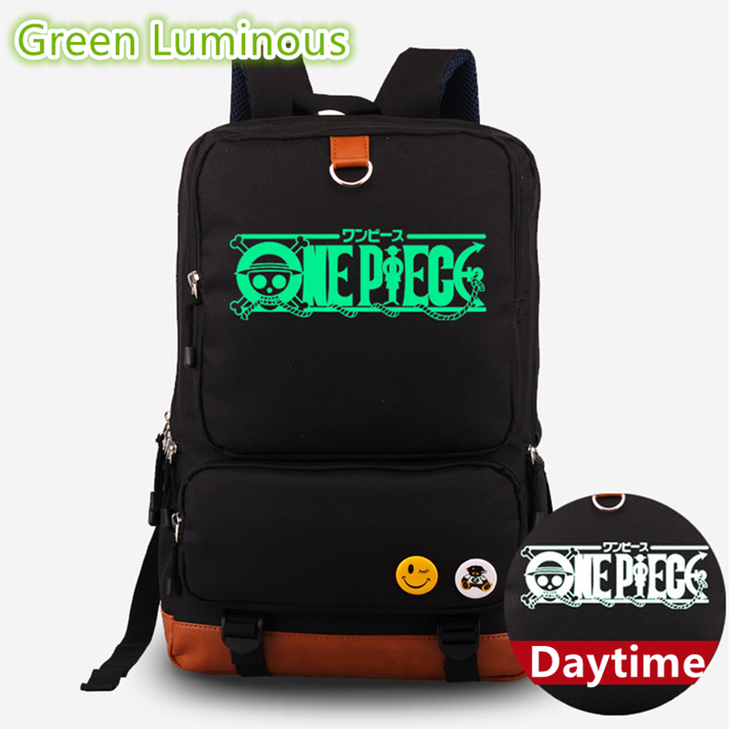 2017 Hot Anime One Piece Monkey D Luffy Green Luminous Mochila Escolar Laptop Printing Backpack for Teenage Girls School Bags2017 Hot Anime One Piece Monkey D Luffy Green Luminous Mochila Escolar Laptop Printing Backpack for Teenage Girls School Bags