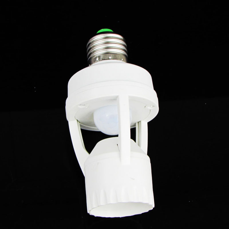 E27 Plug Socket 360 Degrees PIR Induction Motion Sensor IR Infrared Human LED Light Sensor Switch Base Lamp Holder e27