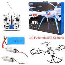 Free Shipping! JJRC H16 Tarantula X6 drone 4CH RC Quadcopter 5MP Cam Hyper IOC+2 Motor+Battery
