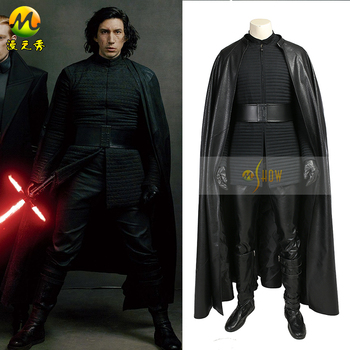 Star Wars 8 The Last Jedi Kylo Ren Cosplay Costume Kylo Ren Cosplay Leather Suit Halloween Costume for Adult Men Custom Made the touhou project yukari yakumo cosplay costume halloween luxury party dress custom made