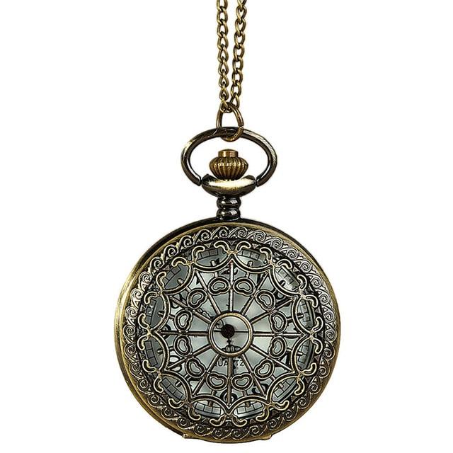 OTOKY Pocket Watch Men Vintage Bronze Tone Spider Web Design Chain Pendant Pocke