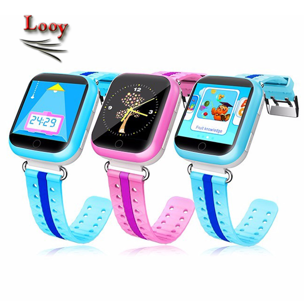 GPS kids smart watch Q750 with early leaning 1.54 inch touch screen Wifi baby clock Q100 ...