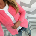 New Sweater Women Cardigan Long Sleeve Knitted Sweaters Female Casual Solid Color Cardigan fashion Slim Woman Cardigans Tops