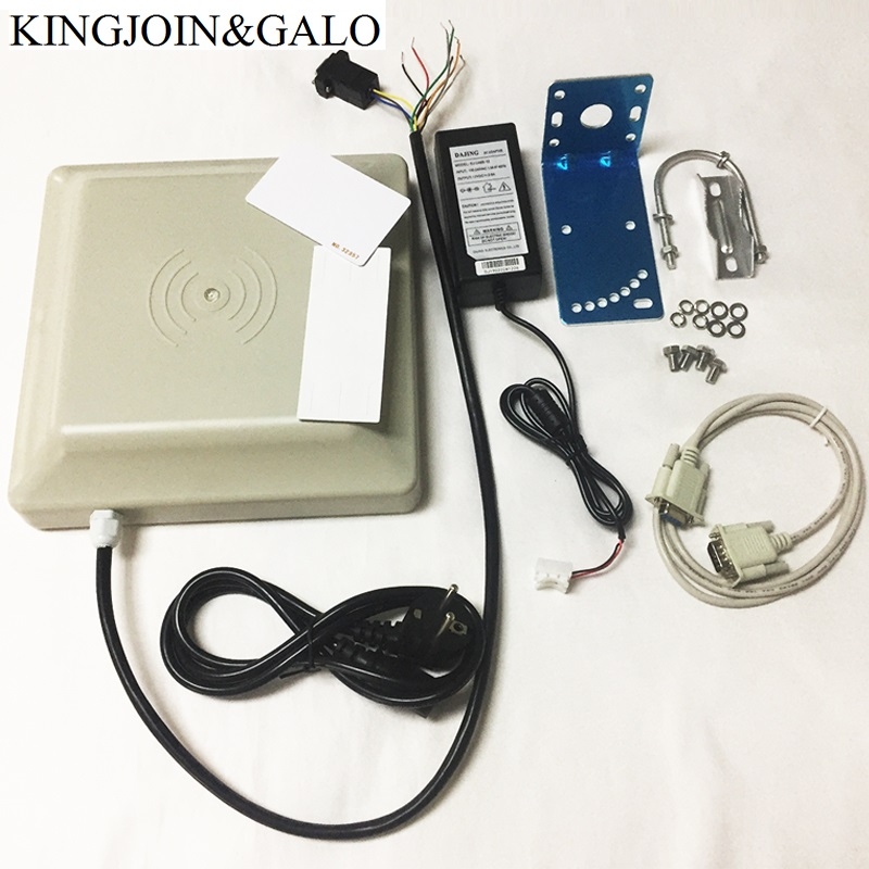 Function Integrative Long range UHF RFID card reader 0- 6m long distance range with 8dbi Antenna RS232/RS485/Wiegand Reader