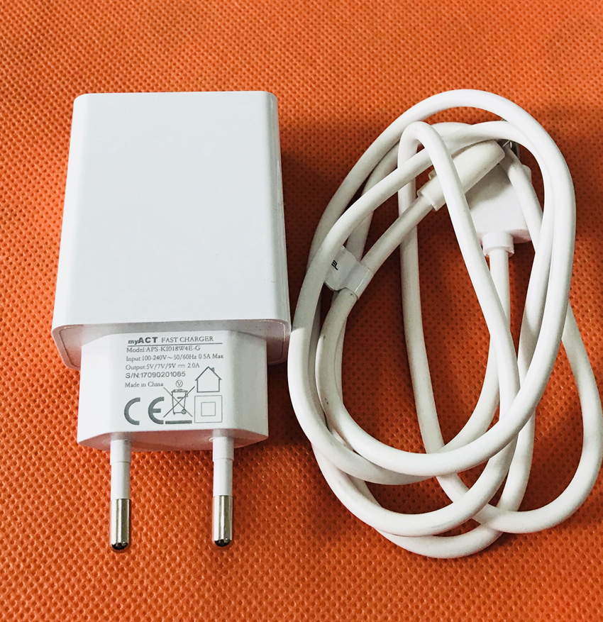 Original USB Charger Plug + Cable for Oukitel K3 MTK6750T Octa Core 5.5 Inch FHD Free Shipping
