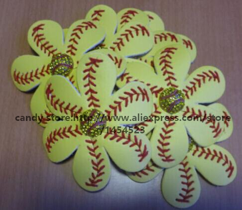 c30be9e28ed03 100pcs DHL Softball Hairbows Flower Accessories Flip Flop Hair Clip ...