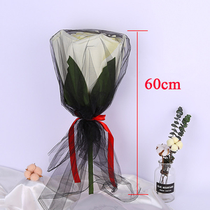 Image 5 - גדול קצף ורדים עם גבעולים ענק פרח ראש מתנת יום הולדת חג האהבה חתונה תפאורה רקע ספקי צד