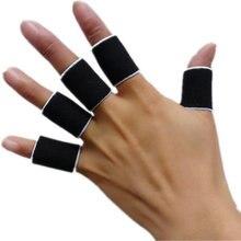 10 шт. защита пальцев рукав Поддержка баскетбольная спортивная помощь артрит группа обертывания пальцев рукава Прямая поставка