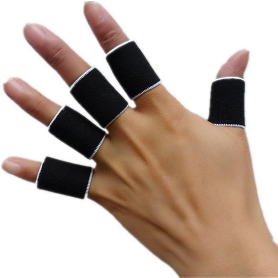 10Pcs Finger Protector Sleeve Support Basketball Sports Aid Arthritis Band Wraps Finger Sleeves Dropshipping