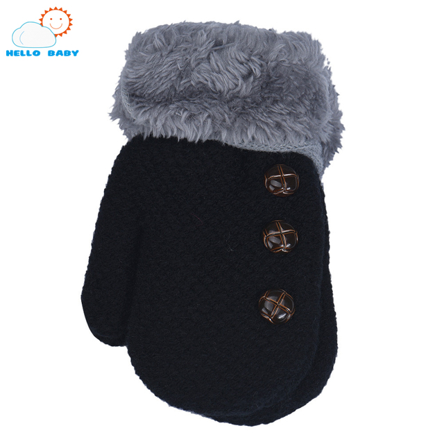 45703001f 6 colors high quality winter Baby gloves full finger kids mittens ...