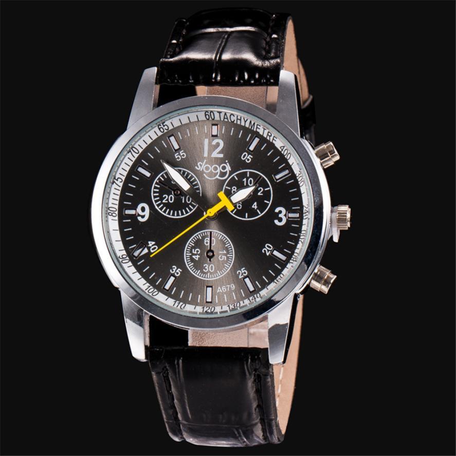 2018 Newly Designed Fashion High Quality Luxury Fashion Crocodile Faux Leather Mens Analog Watch Wrist Watches Gift 324F921