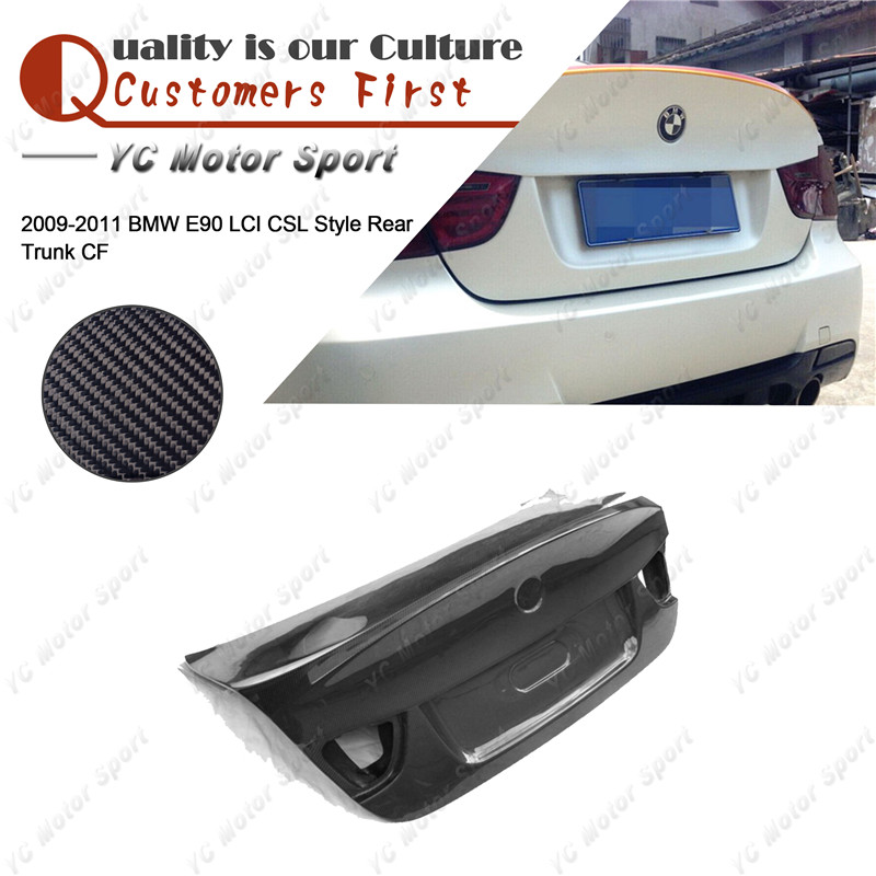 Car Accessories Carbon Fiber CSL Style Trunk Boot Lid Fit For 2009-2011 E90 LCI Rear Trunk Bootlid Car-styling