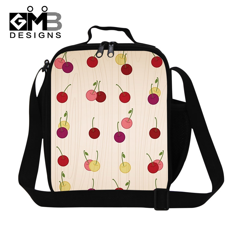 917c33804a79 Dispalang Cherry Thermal Lunch Bags Fruits 3D Print Kids Lunchbox Kids  Travel Picnic Bag Lancheira Termica Womans Small Food Bag-in Lunch Bags  from ...