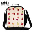 Dispalang Cherry Thermal Lunch Bags Fruits 3D Print Kids Lunchbox Kids Travel Picnic Bag Lancheira Termica Womans Small Food Bag