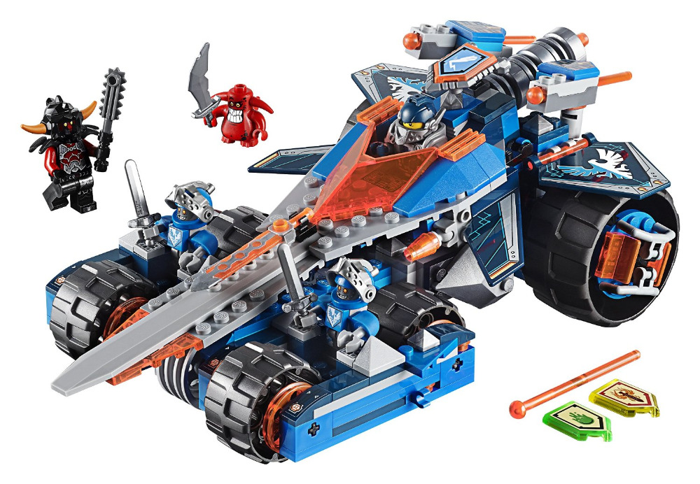 LEPIN Nexo Knights Clay's Rumble Blade Axl Combination Marvel Building Blocks Kits Toys Minifigures Compatible lepin Nexus