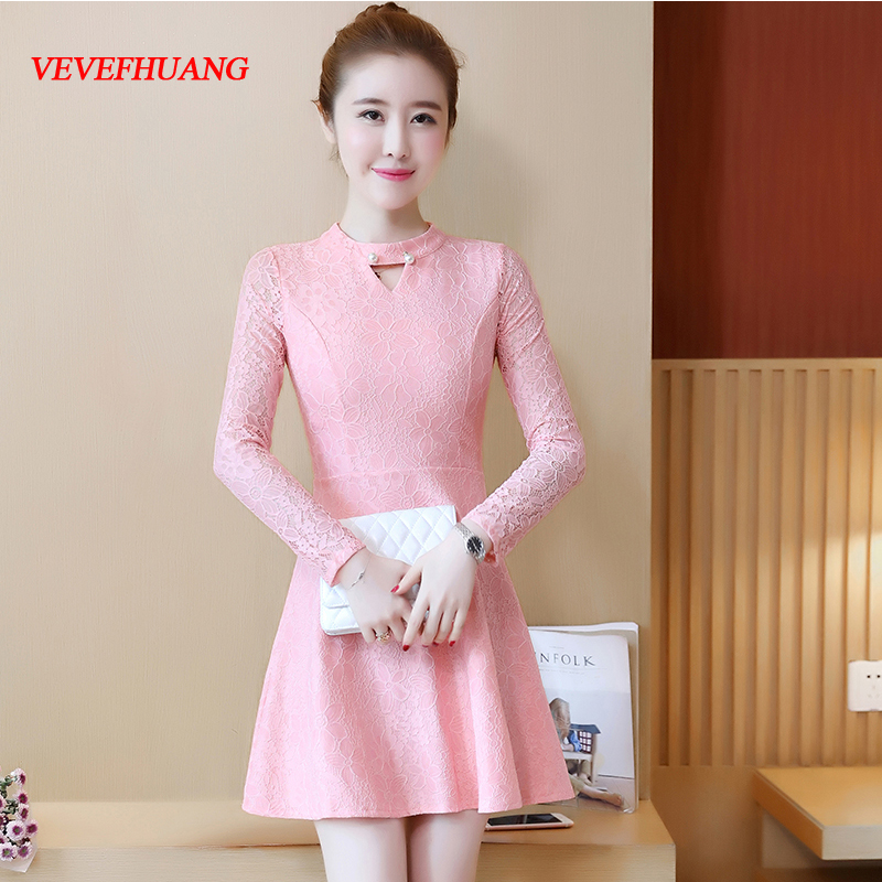 2018 New Fashion Women dressading Slim Render A Word Dresses White Pink Black Light Blue L0803