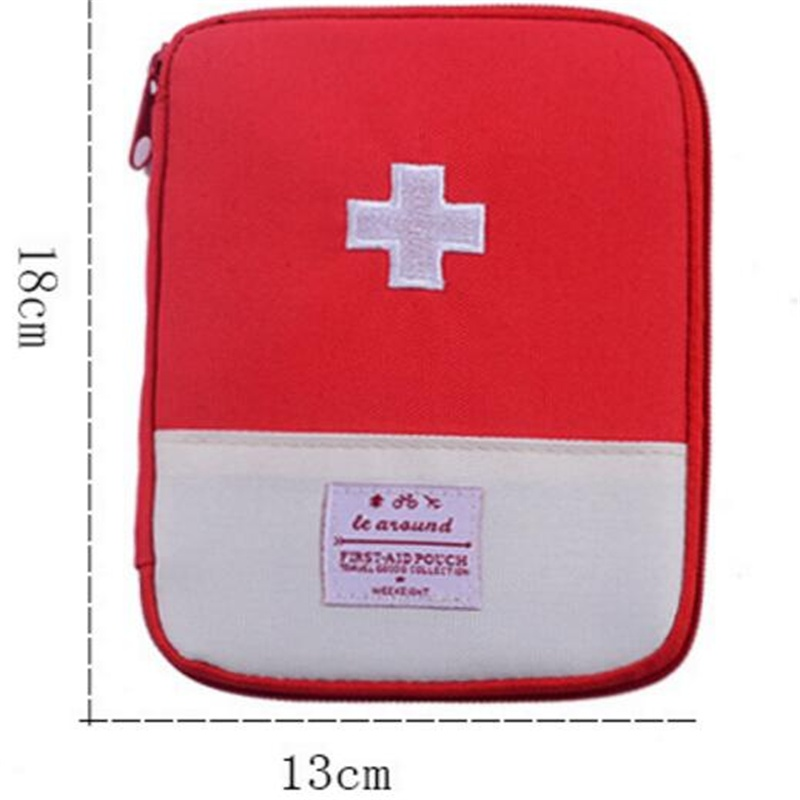Outdoor Travel First Aid Pouch Portable Medicine Storage Bag Medical Organization Zipper Bag