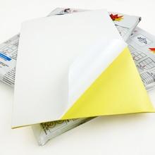 A4 label papier 80 blätter Weiß Hochglanz matte Selbst Adhesive Aufkleber Papier Volle Blatt Label Laserjet Drucken
