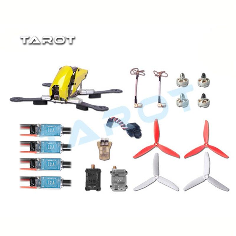 Tarot Robocat 250 FPV Carbon Fiber Quadcopter Kit TL250C Frame 1806 Motor 12A ESC 6inch Prop MINI CC3D PAL/NTSC Camera
