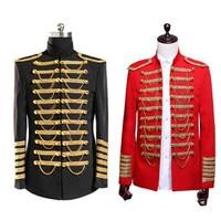 Drop Shipping King Prince Renaissance Medieval Men Royal Court Cosplay Costume Coat Uniform S 3XL