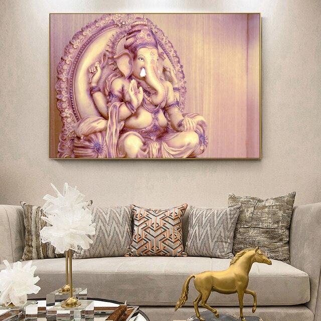 Classical Hindu Gods Wall Art Canvas Prints Ganesha Gods Canvas ...