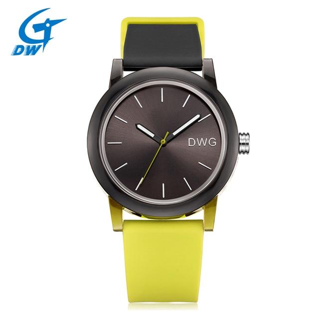 DWG Лидер продаж Для женщин часы кварцевые Новый Часы 3 бар силиконовый ремешок дамы подарок часы наручные Спорт для Для женщин застежка браслета