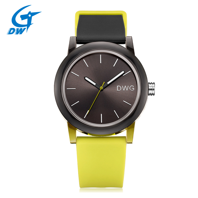 DWG Hot Sale Women's Watch Quartz New Watches 3 Bar Silicone Band Ladies Gift Watch Sport Wristwatch for Women Bracelet Clasp 2016 new price drop silicone watch women chain watch band high quality wristwatch personality digital diamonds quartz watch new