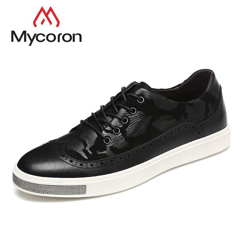 MYCORON printemps/automne Designers de luxe classique en cuir véritable bottes hommes respirant baskets chaussures hommes décontractées Sapato Masculino