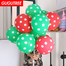 Decorate 100pcs 12inch green red latex balloons wedding event christmas halloween festival birthday party HY-384