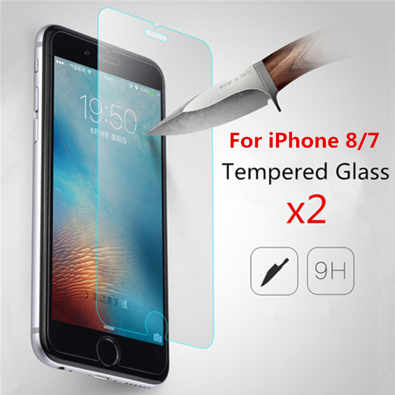 2 Pieces for iPhone 8 7 Glass for iPhone SE 2nd 2020 Screen Protector - Mobile Phone Accessories and Parts